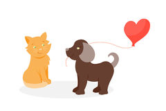 Animal couple in love vector. Royalty Free Stock Images