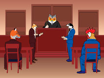 Animal courtroom Stock Photography