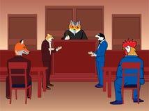 Animal courtroom vector illustration
