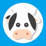 Animal cow. Icon set design for dynamic web display Royalty Free Stock Images