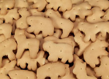 Animal Crackers. Full frame color photo of tasty little animal crackers Stock Photos