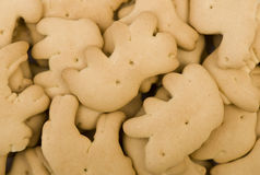 Animal Crackers. A pile of animal crackers (cookies stock photo