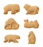 Animal Crackers (with clipping path). Animal Crackers isolated on a white background with a clipping path. Isolation is on a transparent layer in the PNG format stock photo