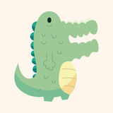 Animal crocodile flat icon elements, eps10 Royalty Free Stock Photo