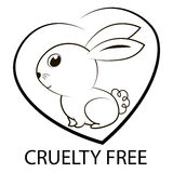 Animal cruelty free icon design. Stock Image