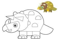 Animal de bande dessinée - page de coloration - illustration pour les enfants illustration de vecteur