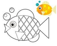 Animal de bande dessinée - page de coloration - illustration pour les enfants illustration stock