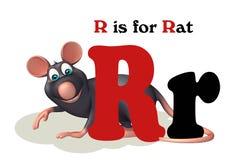 Animal de compagnie de rat avec l'alphabet Images libres de droits