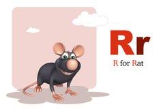 Animal de compagnie de rat avec l'alphabet Image stock