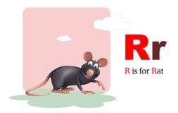 Animal de compagnie de rat avec l'alphabet Photographie stock libre de droits