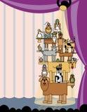 Animal de estimação-Estágio acrobático deixado ilustração royalty free