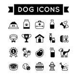 Animal de estimação: Grupo do ícone do cão Fotografia de Stock Royalty Free