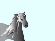 Animal de exploração agrícola caseiro da juba espetacular do cavalo Imagem de Stock