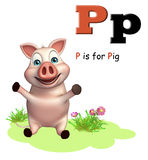 Animal de ferme de porc avec l'alphabet Photographie stock libre de droits