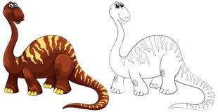 Animal de griffonnage pour le brachiosaurus Images libres de droits