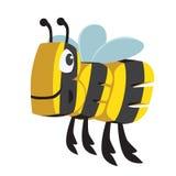 Animal de la historieta de la abeja en letras ilustración del vector