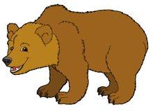 Animal de la historieta - oso - ejemplo para los niños Foto de archivo