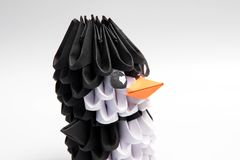 animal de manchot de pingouin de l'origami 3d Photos libres de droits