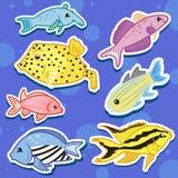 Animal de mar lindo stickers11 Fotos de archivo libres de regalías