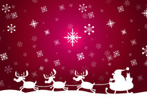 Animal de Santa Represents Father Christmas And de la nieve Fotografía de archivo