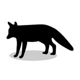 Animal de silhouette de noir de faune de Fox Illustration de Vecteur