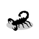 Animal de silhouette de noir de piqûre de scorpion illustration de vecteur
