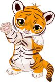 Animal de tigre espiègle mignon illustration de vecteur