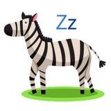 Animal de vecteur d'alphabet de Z Photos stock