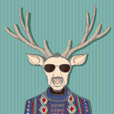 Animal deer in hipster style. Hand drawn image. Stock  ill Stock Image