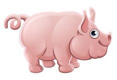 Animal del campo lindo de cerdo de la historieta Fotos de archivo libres de regalías