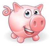 Animal del campo lindo de cerdo de la historieta Fotografía de archivo libre de regalías