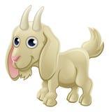 Animal del campo lindo de la cabra de la historieta Fotos de archivo libres de regalías