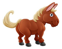 Animal del campo lindo del caballo de la historieta Imágenes de archivo libres de regalías