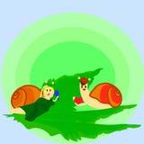 animal del día de primavera del caracol del amor Imagen de archivo libre de regalías