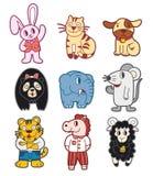 Animal del Doodle Foto de archivo libre de regalías