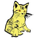 Animal del ejemplo del extracto del diseño de la historieta del icono de Cat Scouts Foto de archivo libre de regalías