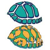 Animal del ejemplo del extracto del diseño de la historieta del icono del mar de la tortuga Imagen de archivo