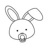 Animal design. cartoon rabbit icon.  image. vector graph Royalty Free Stock Images