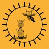 Animal design. owl and giraffe  icon. Isolated illustration ,  Royalty Free Stock Photos