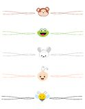 Animal divider. Colorful animal divider collection with happy animal faces Stock Photography