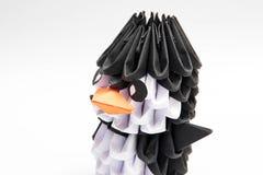 animal do manchot do pinguim do origâmi 3d Imagem de Stock