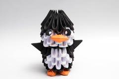 animal do manchot do pinguim do origâmi 3d Fotos de Stock Royalty Free