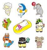 Animal do verão dos desenhos animados Imagens de Stock Royalty Free