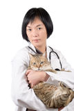 Animal doctor of Asian Royalty Free Stock Photography