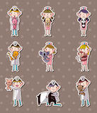 Animal doctor stickers Stock Photography