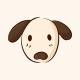 Animal dog flat icon elements, eps10. Vector illustration file Royalty Free Stock Images