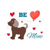 Animal dog in love vector. Stock Photo