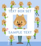 Animal dog man_text box. Set of various poses of animal dog man_text box Stock Image