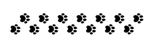 Paw prints 2 Royalty Free Stock Image