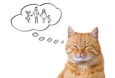 Animal doméstico de la familia stock de ilustración